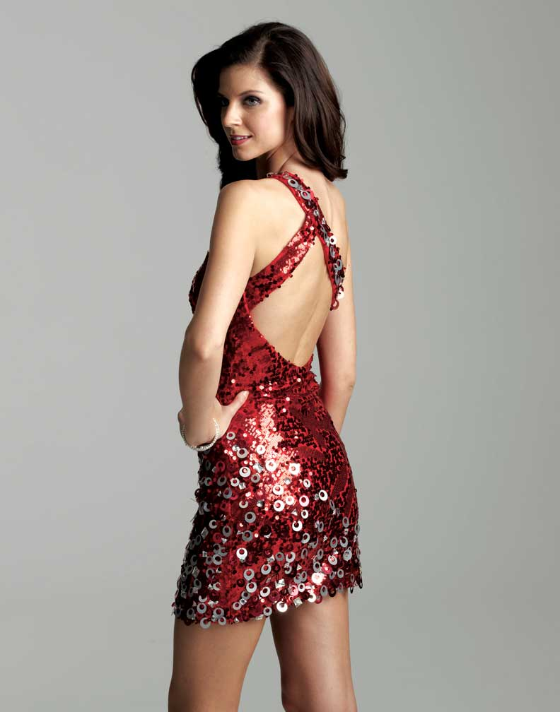 Clarisse 2012 Homecoming 2013 Prom Radiant Red Short Sequin One ...