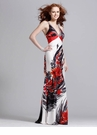 Floral Print Long Formal Dress 1395