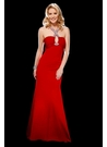 Scala Red Keyhole Prom Dress 17021