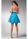 Blue and White Short Formal Dress 1537
