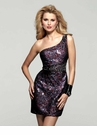 One Shoulder Multi Sequin Dress 2033