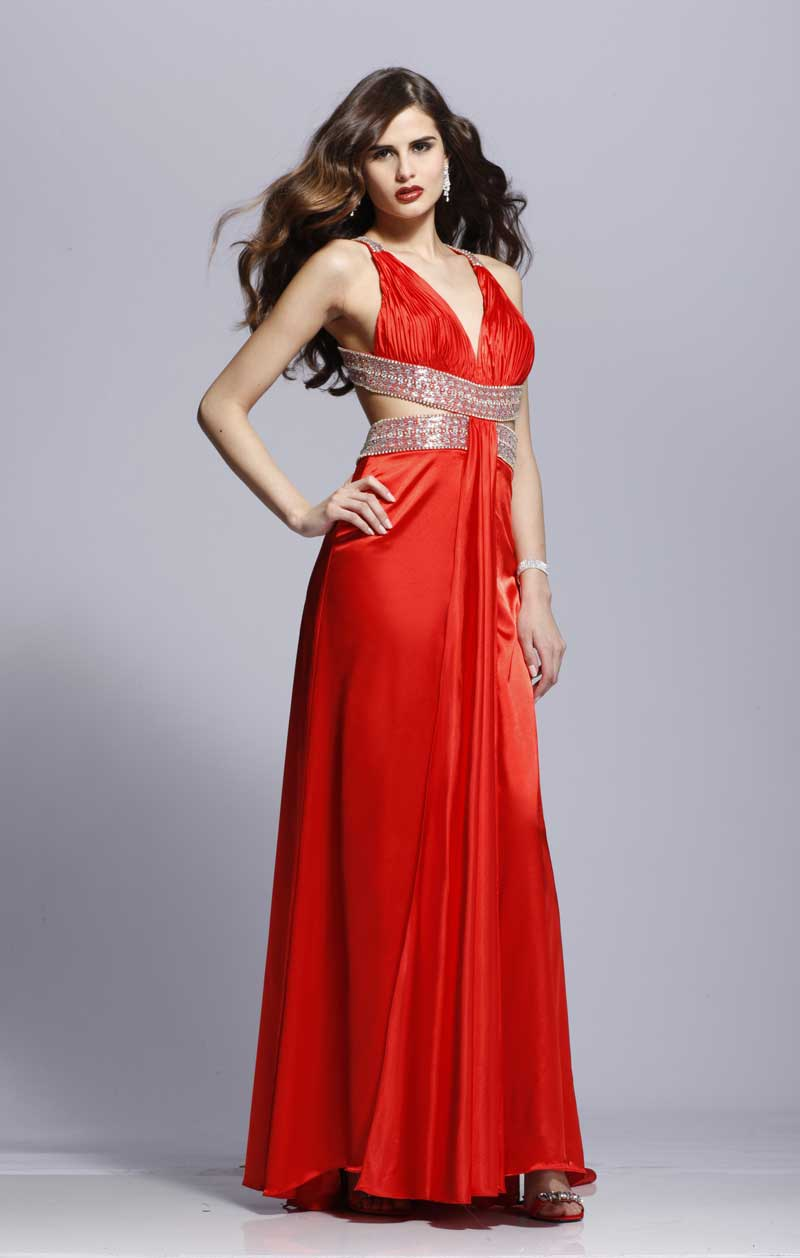 Classic Red Prom dress 2820 by Tony Bowls