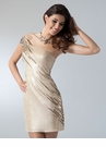 Gold One Shoulder Homecoming Dress 1654