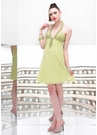 Alyce Green Halter Party Dress 35292