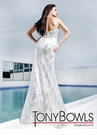 White and Silver Tony Bowls Prom Gown 11217