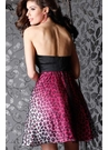 Pink Leopard Print Homecoming Dress 1408
