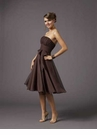 Brown Tea Length Mori Lee Party Dress 735