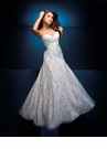 White and Silver Ball Gown 110549 by Tony Bowls