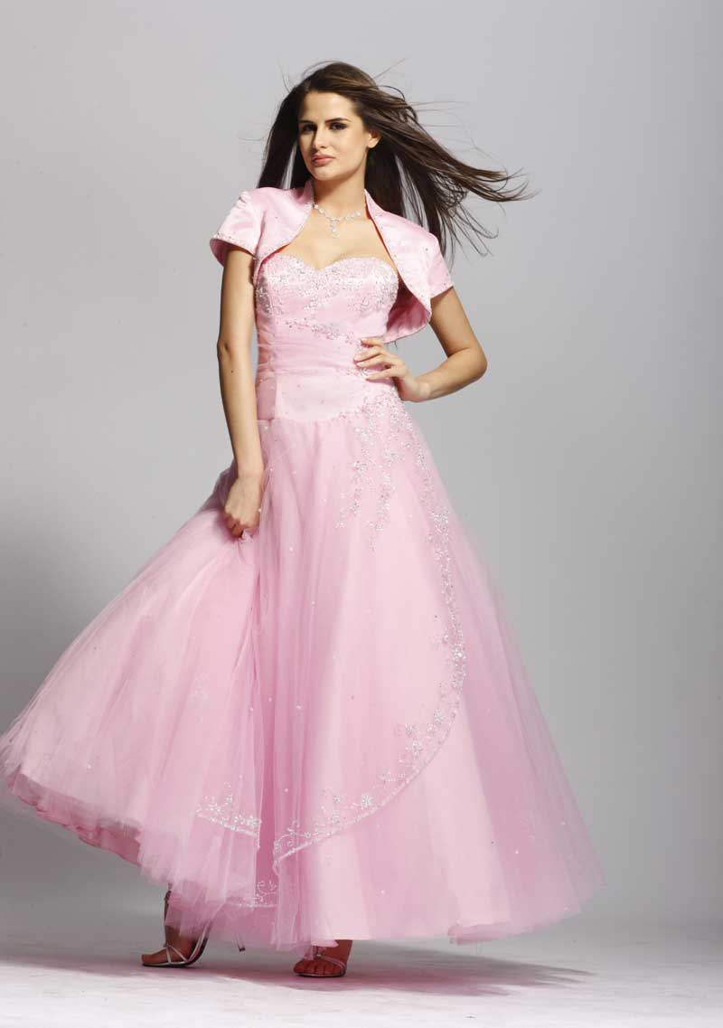 Prom gown 927 - Pink Ball Gown - Strapless Evening Gown | Promgirl.net