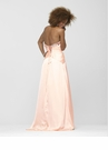 Strapless Pastel Peach Prom Dress 2123