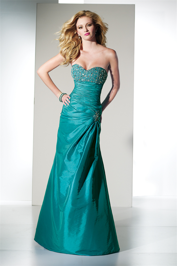 Turquoise Long Prom Dress 35443 | Promgirl.net