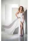 One Shoulder White Prom Dress 35415