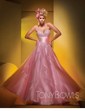 Pink Tony Bowl prom dress 11549