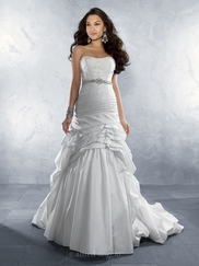 Refined Strapless Wedding Bridal Dress Alfred Angelo 2168