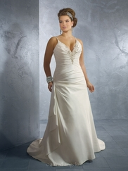 Gorgeous V-Neckline Wedding Bridal Dress Alfred Angelo 2183