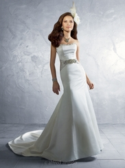 Breathtaking Strapless Wedding Bridal Dress Alfred Angelo 2185