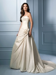 Elegant Strapless Wedding Bridal Dress Alfred Angelo 753