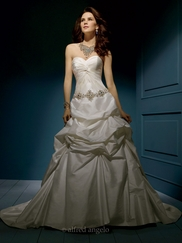 Regal Strapless Wedding Bridal Dress Alfred Angelo 853