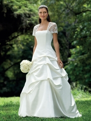 Sophisticated Strapless Wedding Bridal Dress Alfred Angelo 1645