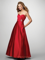 Strapless Long Bridesmaid Dress Alfred Angelo 7166
