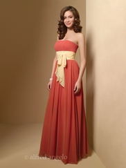 Strapless A-Line Bridesmaid Dress Alfred Angelo 7017