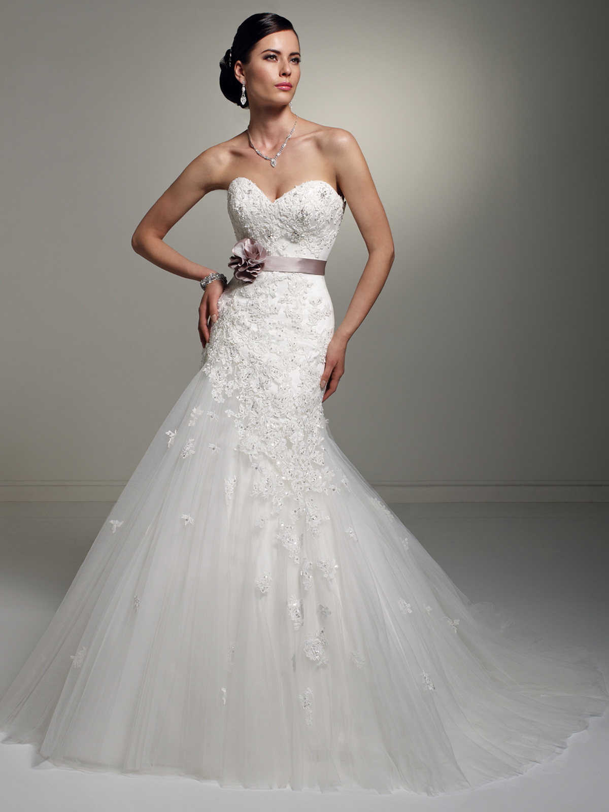 Sweetheart Tulle A Line Skirt Wedding Gown Jillian Sophia Tolli By Mon Cheri Y21246