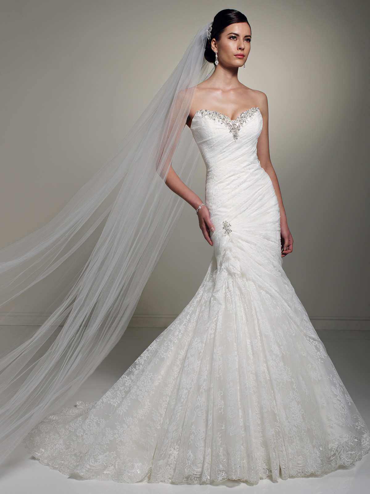 Crystal Sweetheart Neckline Wedding Gown Olga Sophia Tolli By Mon Cheri Y21262