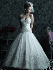 Strapless Sweetheart Wedding Ball Gown Couture By Allure Bridals C222