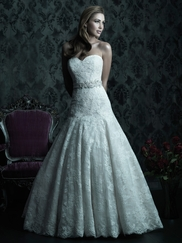 Strapless Sweetheart Wedding Dress Couture By Allure Bridals C228