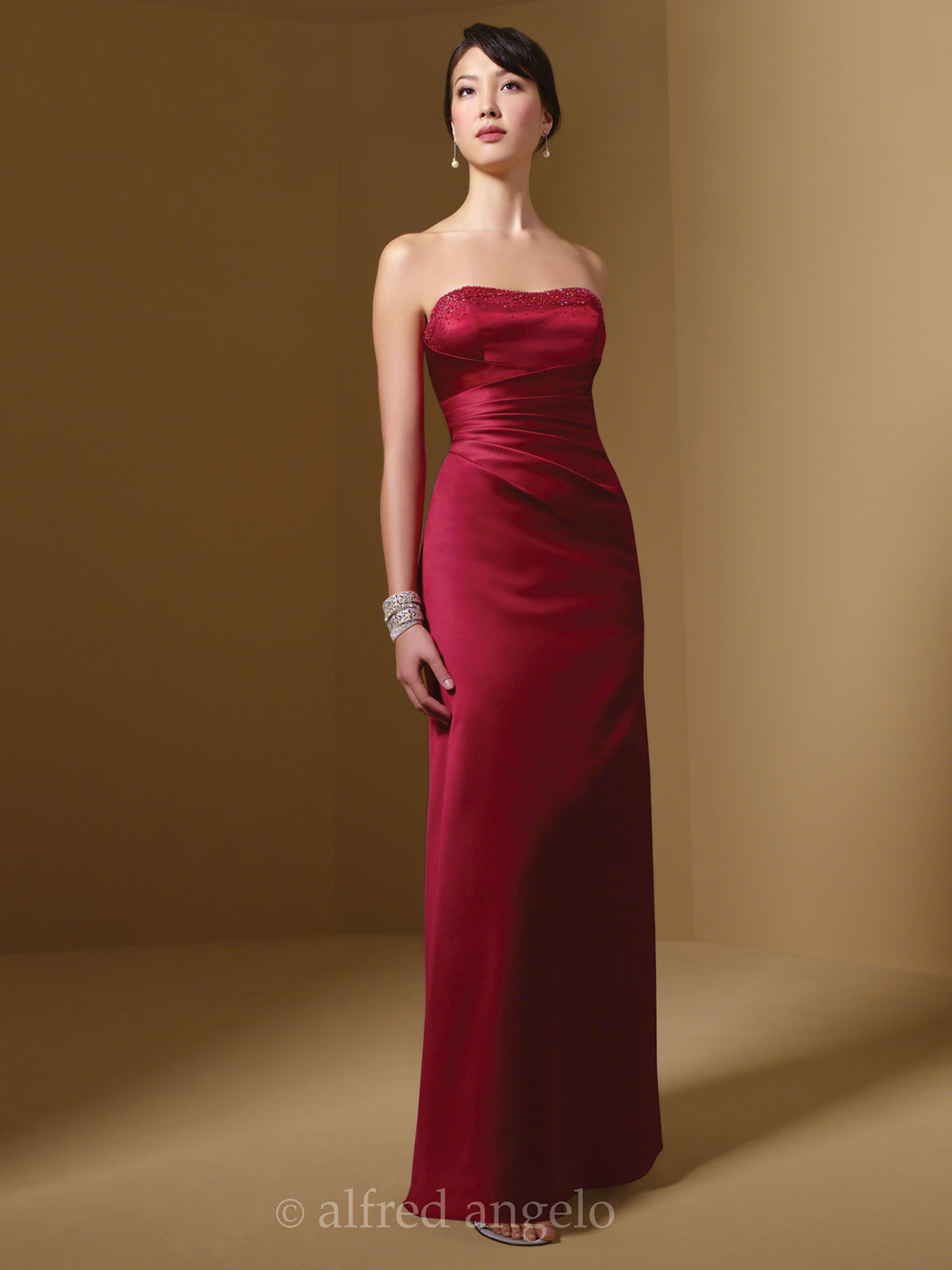 Floor length bridesmaid dress alfred angelo 7027 dimitradesigns strapless long bridesmaid dress alfred angelo 7027 ombrellifo Image collections