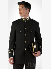 Black Cadet Quinceanera Slim Fit
