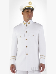 White Cadet Quinceanera Suit Slim Fit