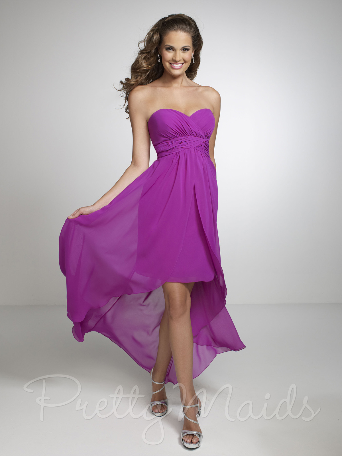 Sweetheart Short Bridesmaid Dress Pretty Maids 22531|DimitraDesigns.com