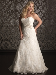 Sweetheart Laced Bridal Gown Allure Women W311