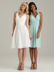 Halter Ruched Allure Bridesmaid Dress 1309