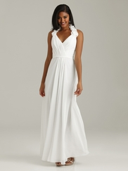 Halter Pleated Allure Bridesmaid Dress 1310