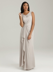 Bateau Neckline Allure Bridesmaid Dress 1318