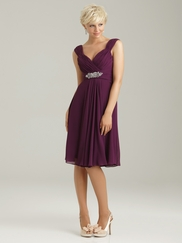 Off The Shoulder Ruched Allure Bridesmaid Dress 1333