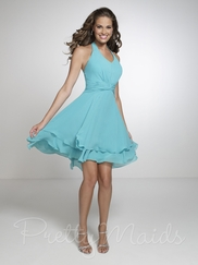 Halter Empire Pretty Maids Bridesmaid Dress 22539