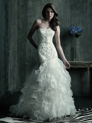 Flattering Plus Size Couture Wedding Dress by Allure Bridals C181