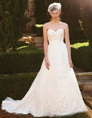 Lavish Beaded Embellish Casablanca Bridal Gown 2038