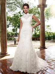 Vintage Inspired Fit and Flare Casablanca Bridal gown 2023