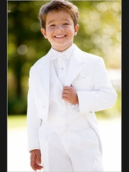 Ring Bearer Tuxedo White Notch Fulldress