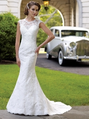 Jewel Neckline Lace Wedding Gown Zelda David Tutera For Mon Cheri 113207