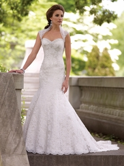 Strapless Scalloped Hemline Wedding Gown Dolores David Tutera For Mon Cheri 113226