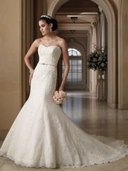 Strapless Jeweled Belt Wedding Gown Stacey David Tutera By Mon Cheri 212260