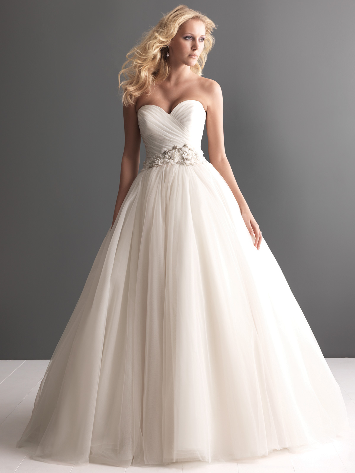 Sweetheart Ball Gown Allure Romance Bridal Gown 2607|DimitraDesigns.com
