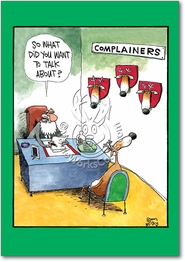 Complainers Christmas Funny Card