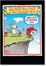 Reindeer Can Fly Christmas Funny Card