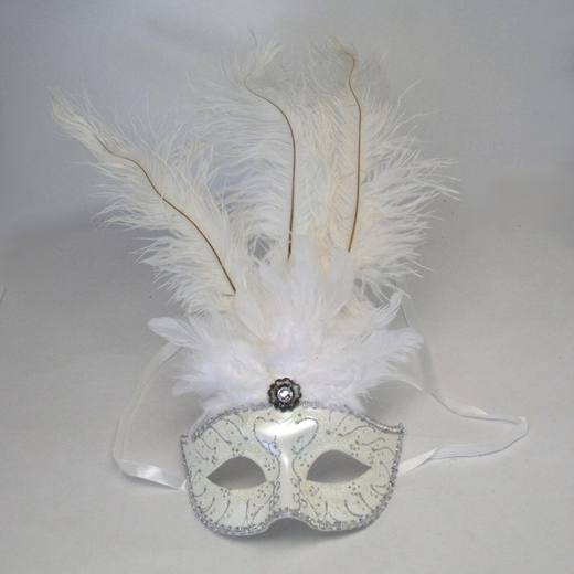 White Feather Mask